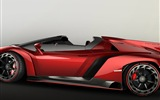 2014 Lamborghini Roadster Veneno rojo supercar HD wallpapers #4