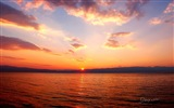 Nach Sonnenuntergang, See Ohrid, Windows 8 Theme HD Wallpaper