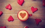The theme of love, creative heart-shaped HD wallpapers
