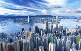 Hong Kong's urban landscape beautiful HD wallpapers