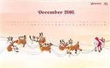 December 2016 Christmas theme calendar wallpaper (1) #14