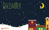 December 2016 Christmas theme calendar wallpaper (1) #17