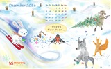 December 2016 Christmas theme calendar wallpaper (1) #27