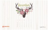 December 2016 Christmas theme calendar wallpaper (1) #28