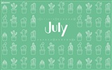 July 2017 calendar wallpaper #3